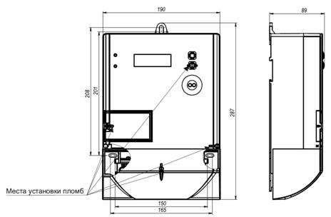 фото электросчетчик трехфазный многотарифный MTX3R30.DK.4Z1-P4