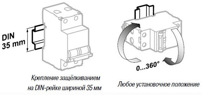 Автоматический выключатель Easy9 Schneider Electric крепление