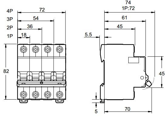 Автоматический выключатель Easy9 Schneider Electric схема