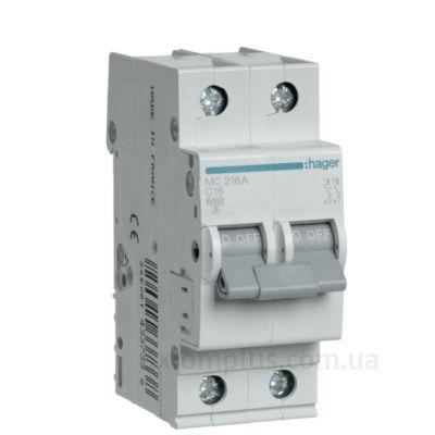 Автоматический выключатель MC216A (2р,С,16А) Hager