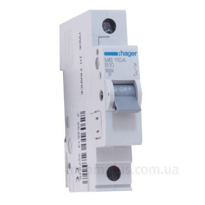 Автоматический выключатель MB110A (1р,В,10А) Hager