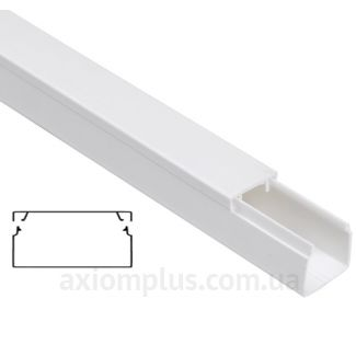 Настенный кабель канал 100х40мм белого цвета от компании IEK - фото