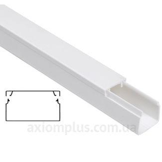 Настенный кабель канал 100х60мм белого цвета от производителя IEK - фото