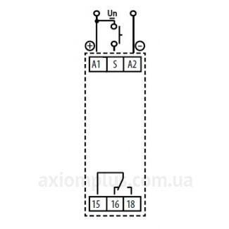 Реле времени CRM-91H/230V схема подключения