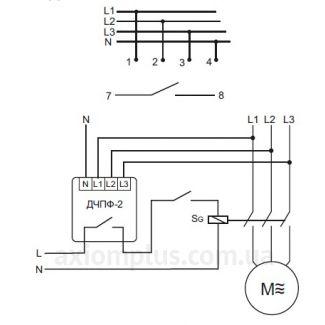схема подключения реле ДЧПФ-2