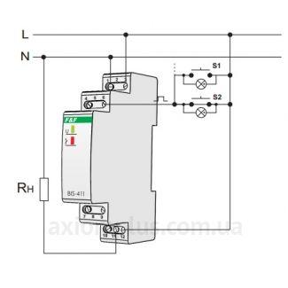 схема подключения реле BIS-411