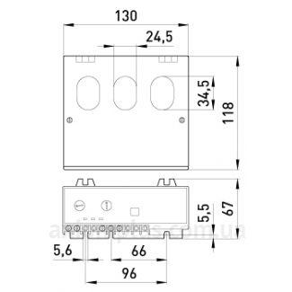 габариты Реле защиты двигателя e.control.m02, 40-200А