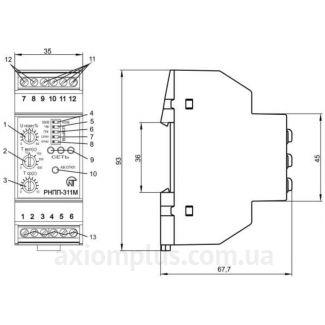 Конструкция реле контроля фаз РНПП-311М