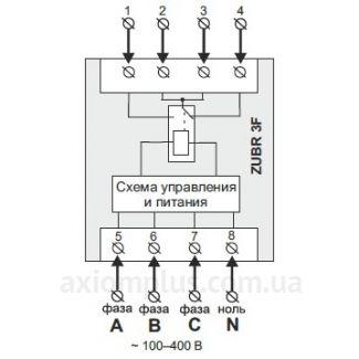 схема подключения реле ZUBR 3F