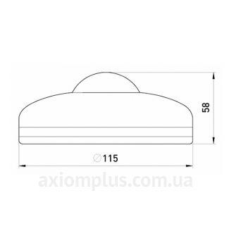 Габаритные и установочные размеры e.sensor.pir.07.white