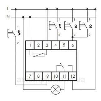 схема подключения реле BIS-412, EC/F&F
