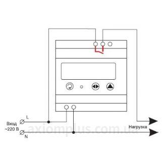схема подключения реле ПТ-2 DigiTOP
