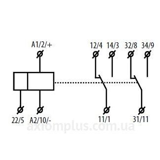 схема подключения реле PRM-2H/UNI