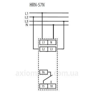 схема подключения реле контроля напряжения HRN-57N