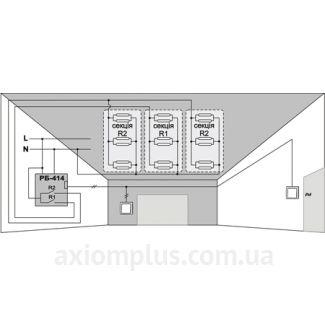 Схема подключения реле РБ-414, EC/F&F
