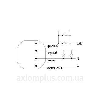 Схема подключения реле BIS-402