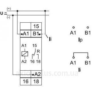 Схема подключения реле ZR5B0011
