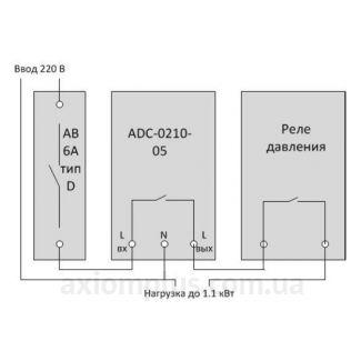 схема подключения реле ADC-0210-05