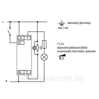 Схема подключения реле Elko-EpDIM-2-1h/230V