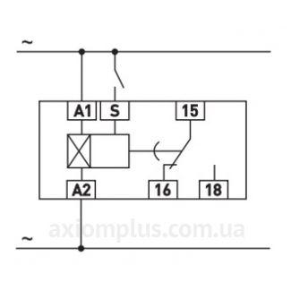схема подключения реле e.control.t06, E-Next