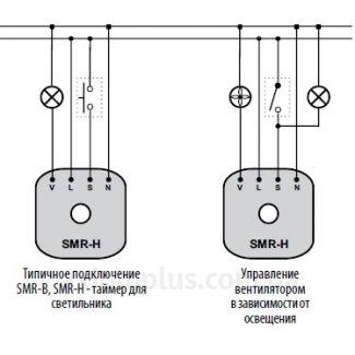 схема подключения реле SMR-H/230V