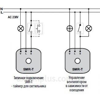 схема подключения реле SMR-T/230V