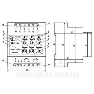 Конструкция реле контроля фаз РНПП-301