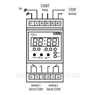 схема подключения реле времени PDR-2A/UNI