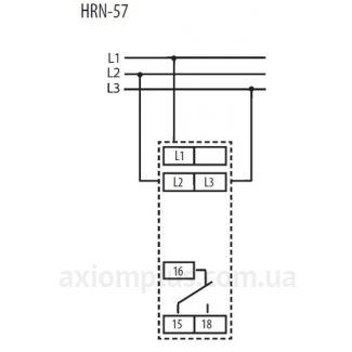 схема подключения реле HRN-57