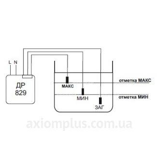 схема подключения реле ДР-829Р