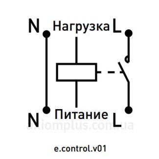 Схема подключения реле e.control.v01: