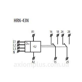 схема подключения реле HRN-43N/24V