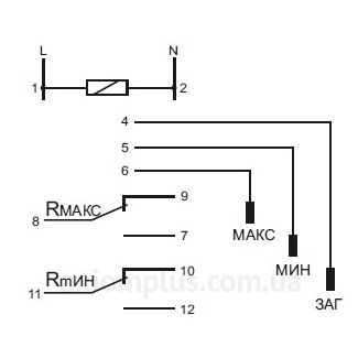 схема реле ДР-829Р