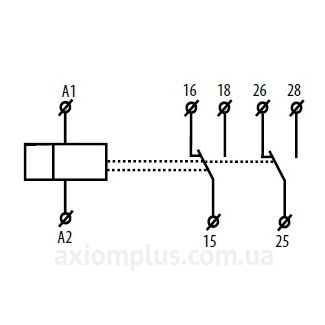 схема подключения реле времени CRM-2T/230V