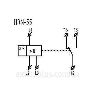 схема подключения реле HRN-55
