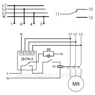 схема подключения реле ДЧПФ-5