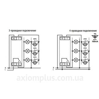 Схема подключения реле CRM-4/230V