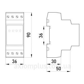 Габаритные и установочные размеры e.control.v03