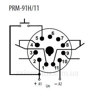 схема подключения реле времени PRM-91H-11/UNI