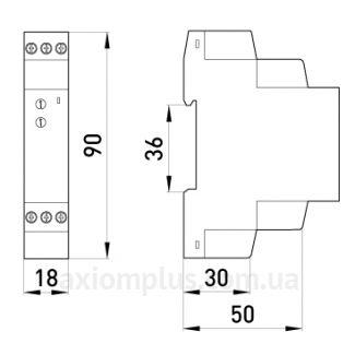 размеры реле e.control.t07
