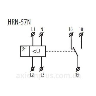 схема подключения реле HRN-57N