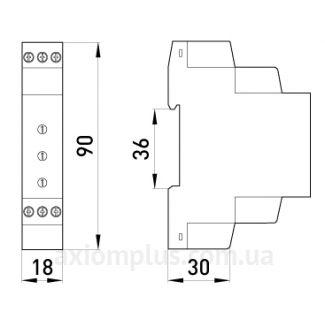 Габаритные и установочные размеры e.control.v02