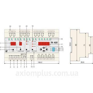 Схема подключения таймера ТК-415