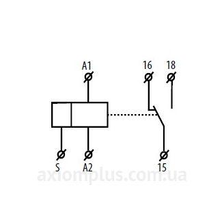 Реле времени CRM-91H/UNI схема подключения