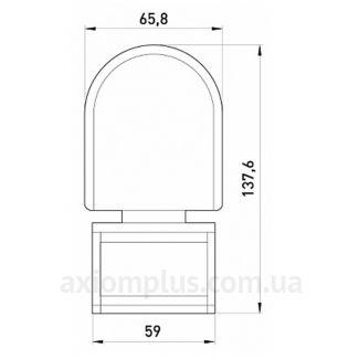 Габаритные и установочные размеры e.sensor.pir.10F.black