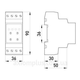 Габаритные и установочные размеры e.control.v04