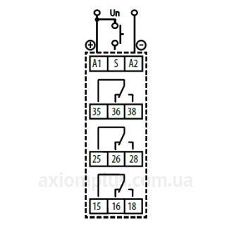 схема подключения реле времени CRM-83J/230V