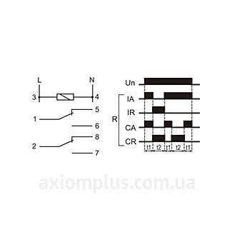 схема подключения реле времени РЧ-520 24 В
