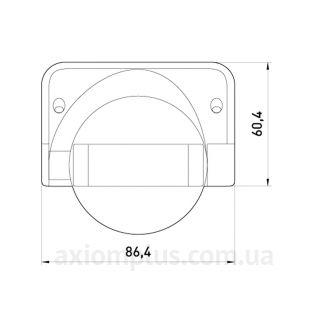 Габаритные и установочные размеры e.sensor.pir.09.white