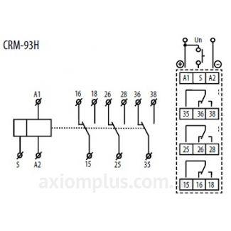 схема подключения реле CRM-93H/230V